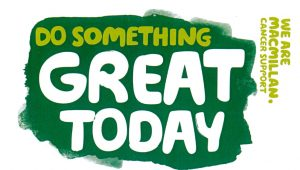 Do something great today - macmillan logo