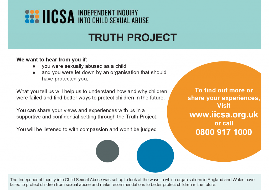 Independent Inquiry Into Child Sexual Abuse - Truth Project