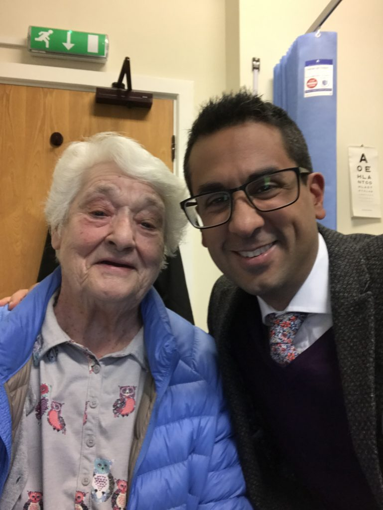 One of our key PPG members with Dr Carter Singh