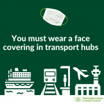 You must wear a face covering in transport hubs