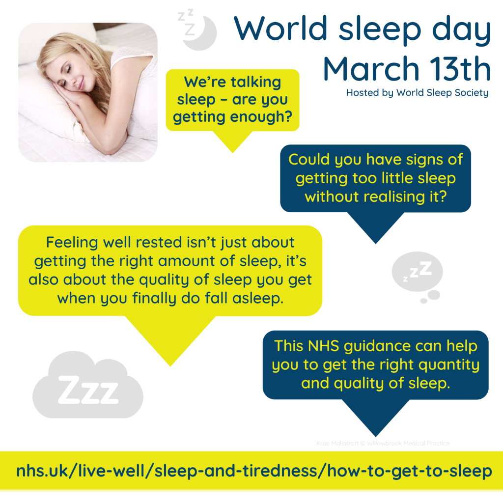 world sleep day graphic