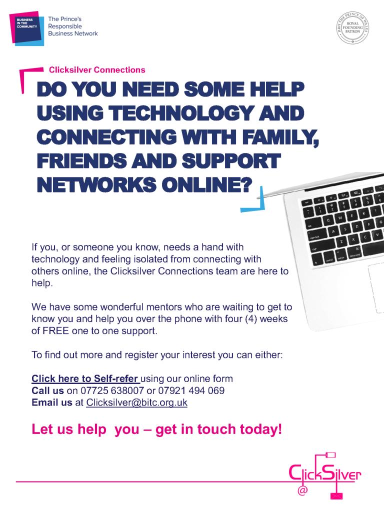 Clicksilver Connections - participant flyer