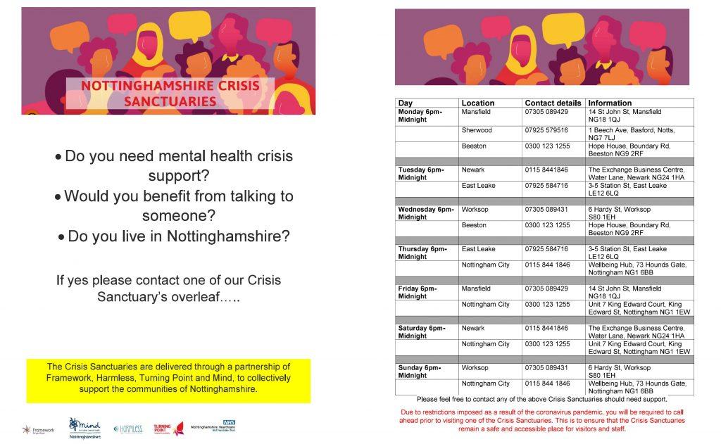 Nottinghamshire Crisis Sanctuaries